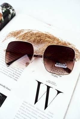 Okulary Przeciwsłoneczne Prius PRE 14 Złote Różowe Szkła