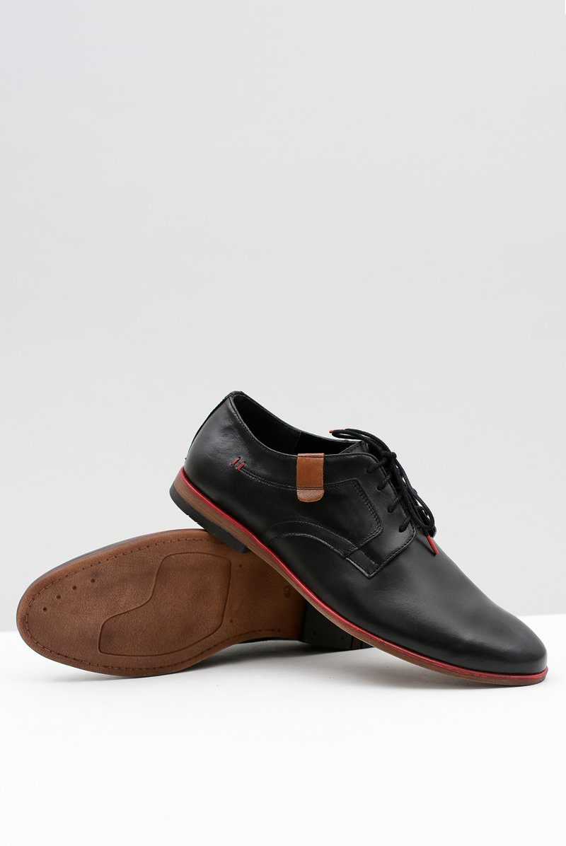 Men's Brogues Bednarek Elegant Leather Black Nikolas