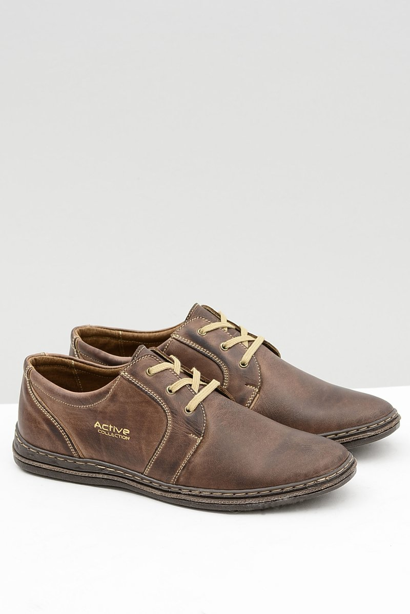 Brown Leather Men Shoes Marko