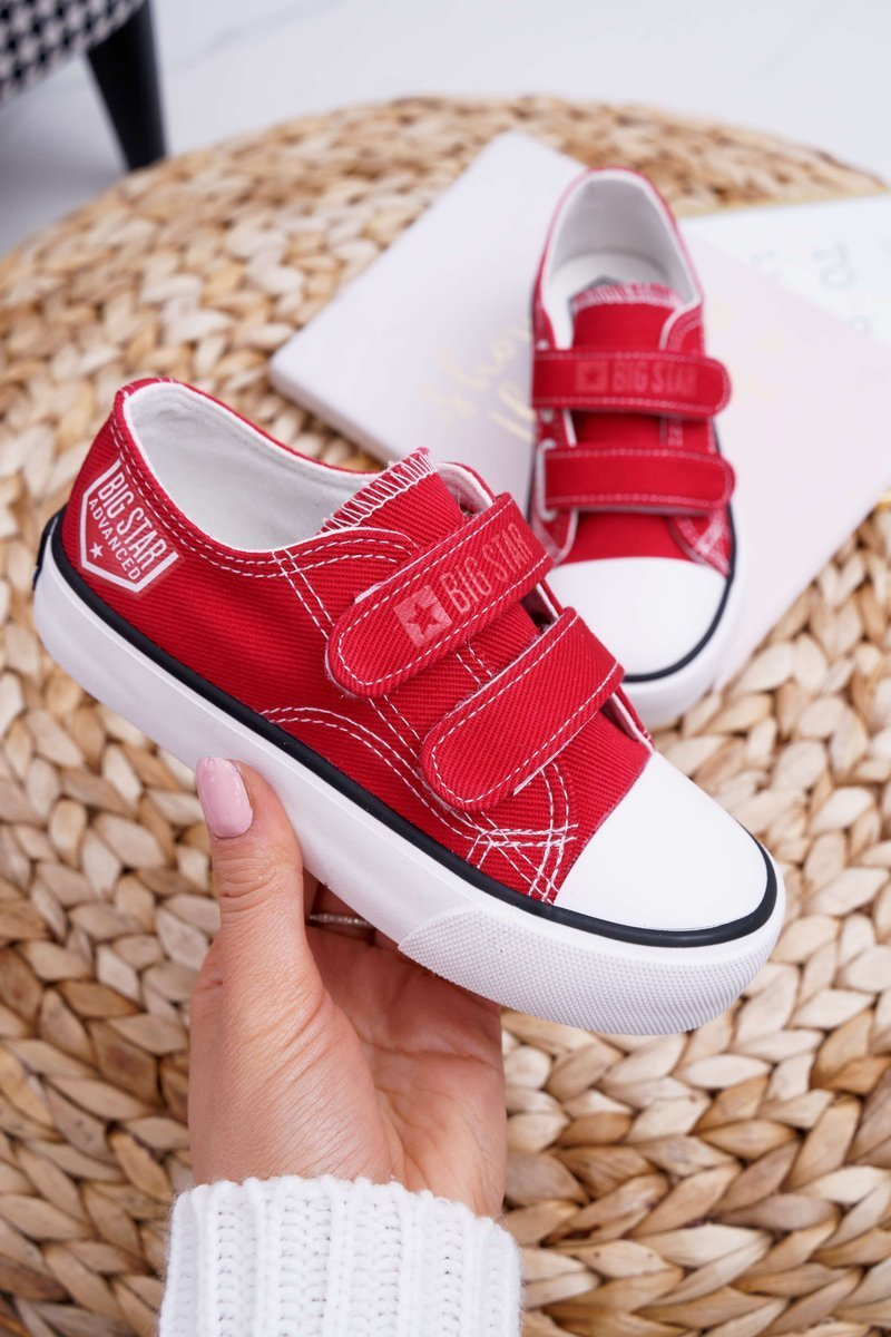 Children's Shoes Sneakers Big Star With Velcro Red FF374063