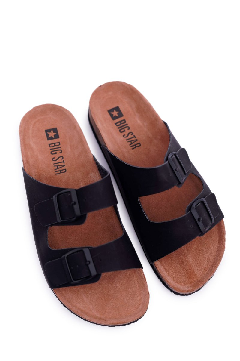 Classic Men's Slides With Buckles Big Star Black DD174605
