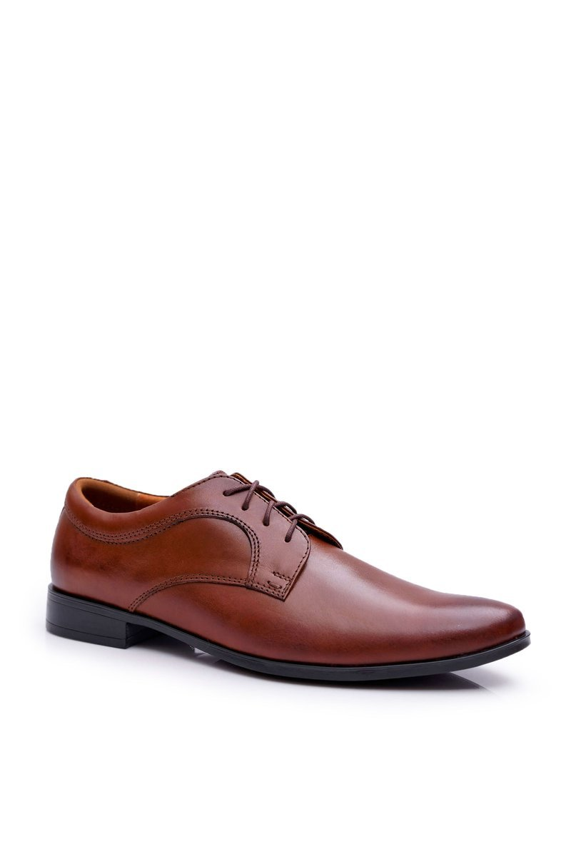 Formal Brown Leather Mens Walking Shoes Gaspare
