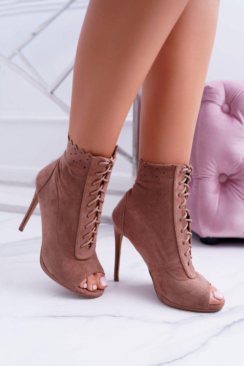 22f05b0c3cf Lu Boo Laced Booties Sandals On High Heels Natasha