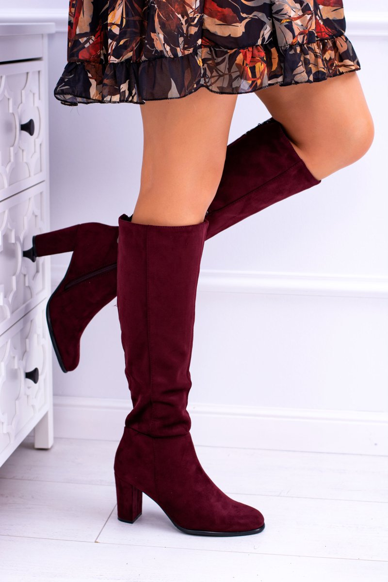12e9bbc41c0d6 Boots Leone And Suede Women's Sergio Kz271 Maroon Cheap qpawI