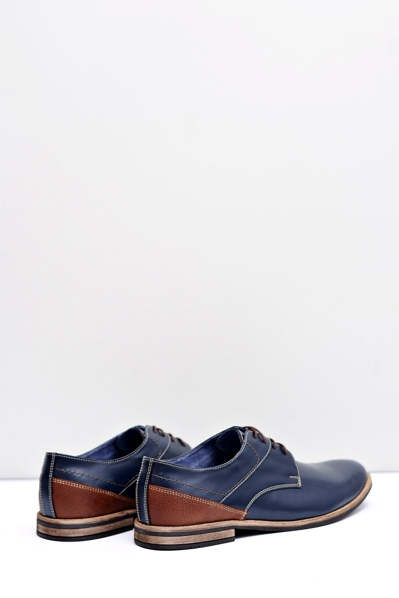 Men's Brogues Bednarek Elegant Leather Navy Blue Marcelo