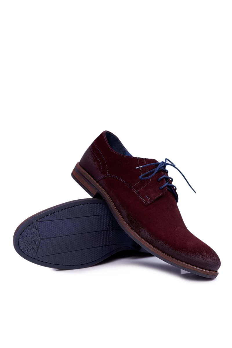 Men's Brogues Shoes Nikopol Leather Casual Bordeaux Lajos
