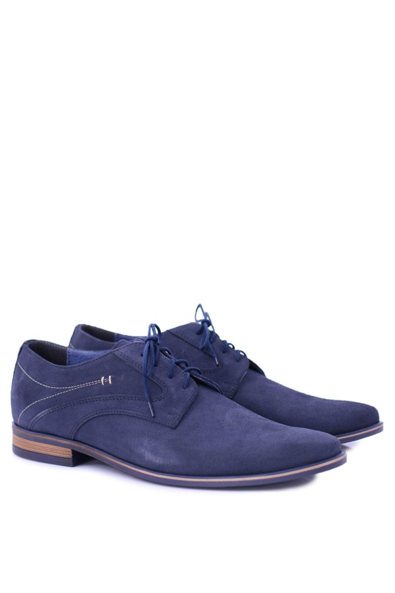 Men's Brogues Bednarek Elegant Leather Suede Navy Eligio