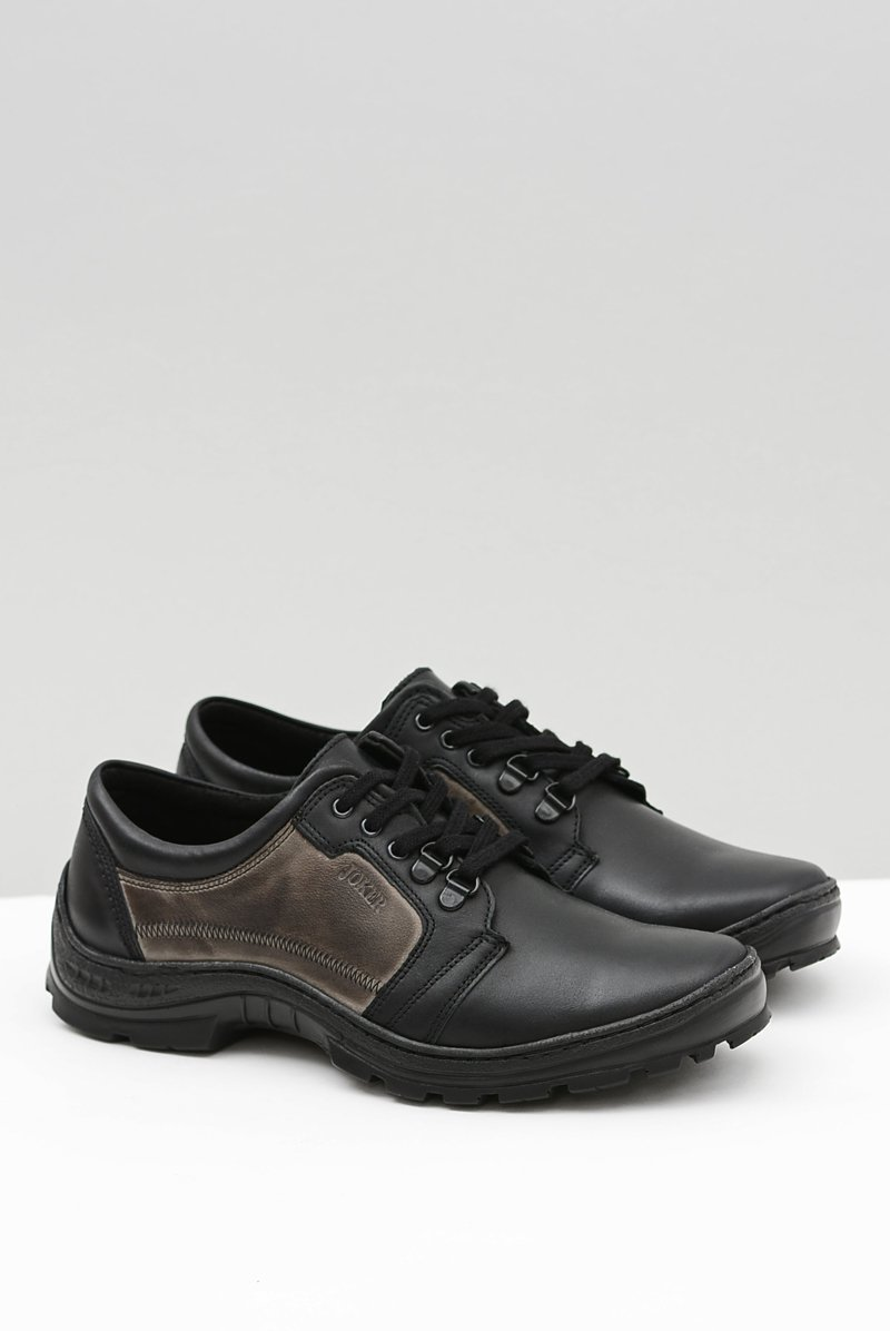 Men's Leather Classic Black Shoes Favello