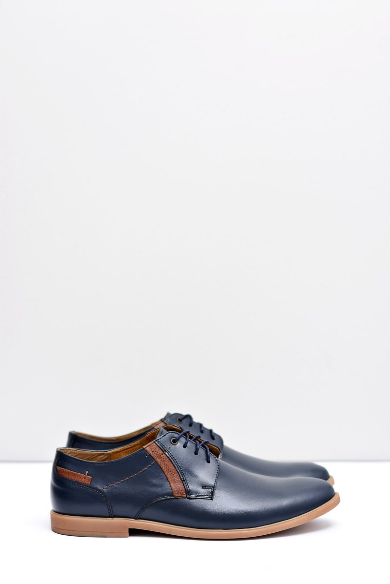 Men's Brogues Bednarek Leather Navy Blue Millo