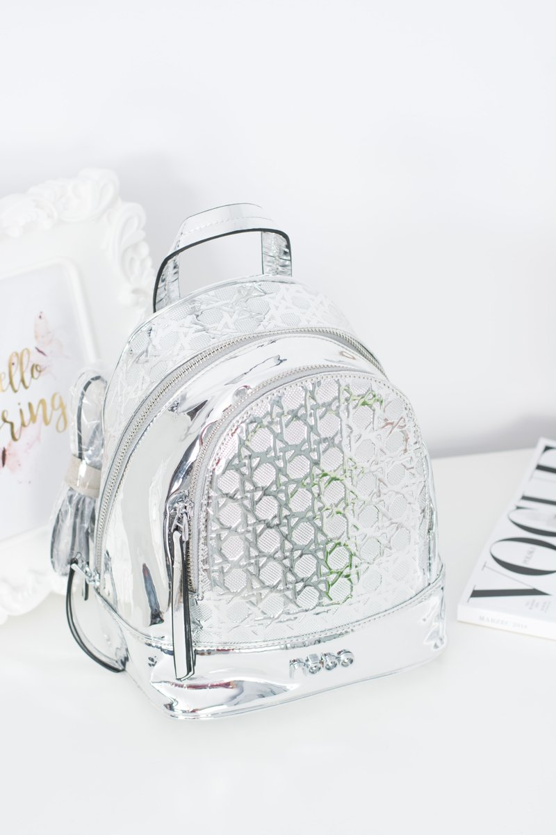 NOBO Silver Design Backpack