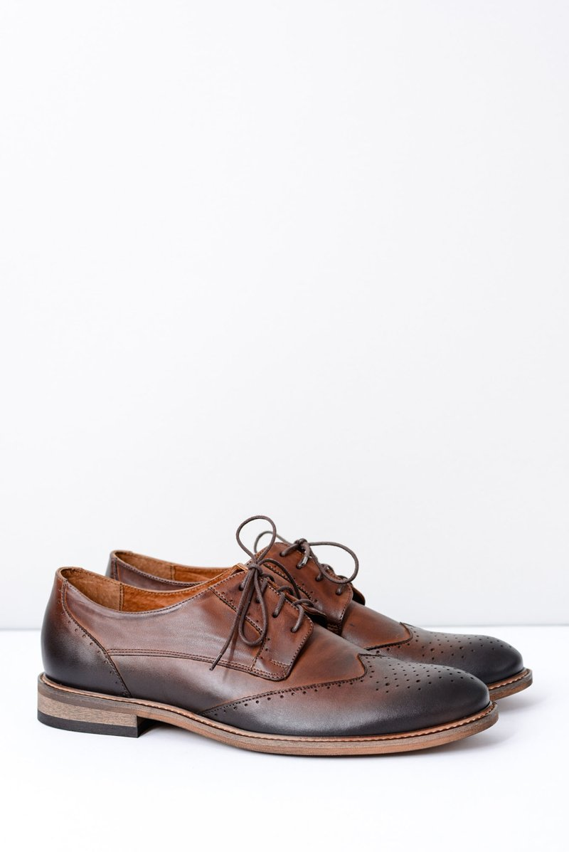8cbfabd4988a6 Nikopol Brown Leather Mens Elegant Shoes Mortes