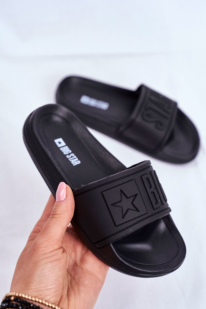 Slides Children's Youth Big Star Black DD374157