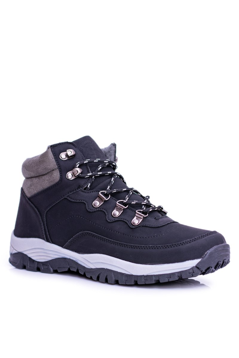 6997985d577d8 Warm Men's Black Trekking Shoes by Smith's Duran   Cheap and ...