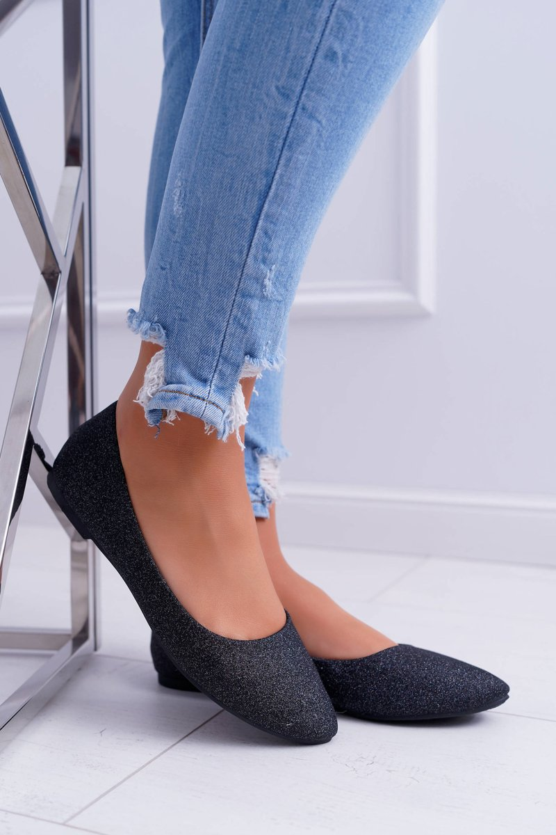 Women's Ballerinas With Brocade Black Fifi