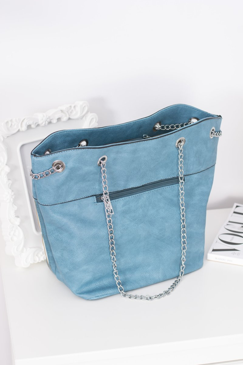 Women's Blue Classic Purse with Tassel