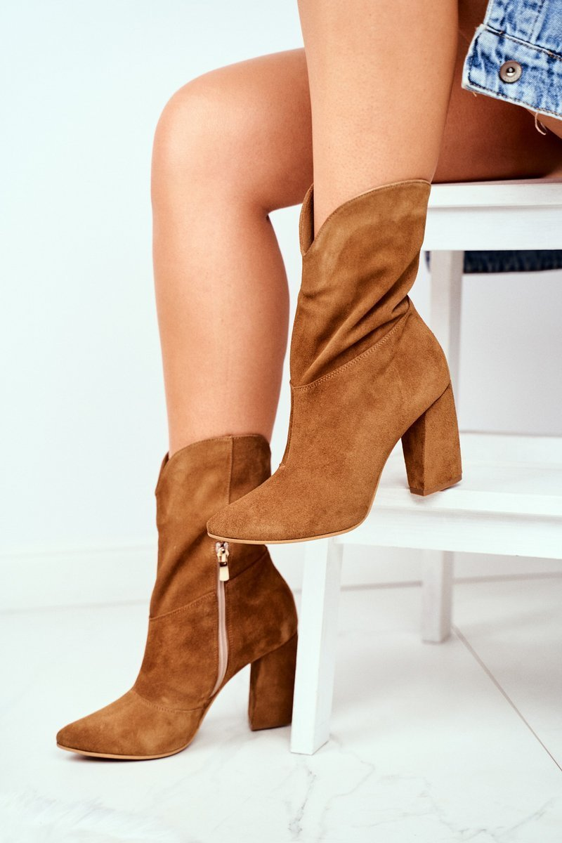 Women's Boots Spring Leather Laura Messi Camel 2123