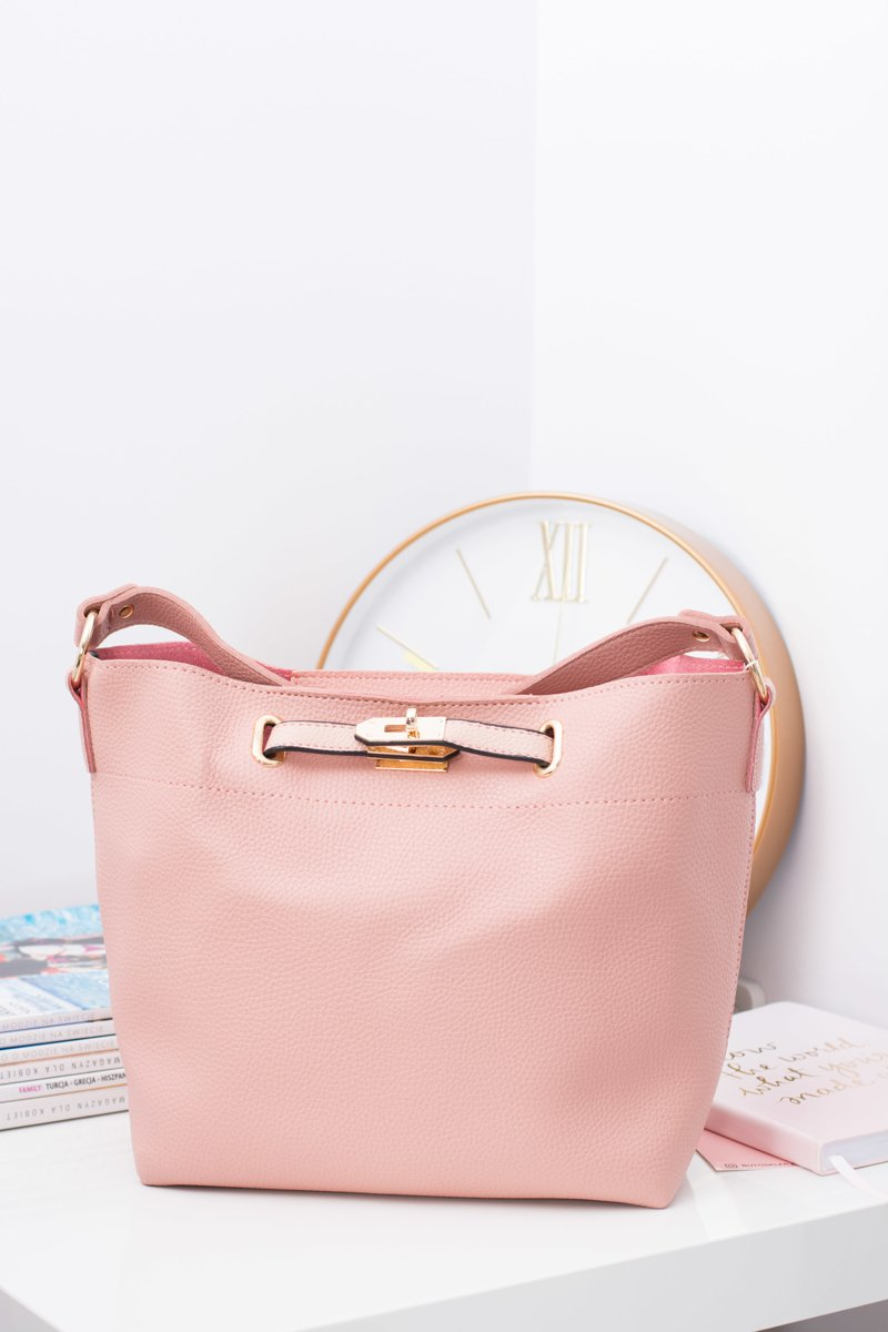 Women's A4 Shoulder Bag Powder Pink
