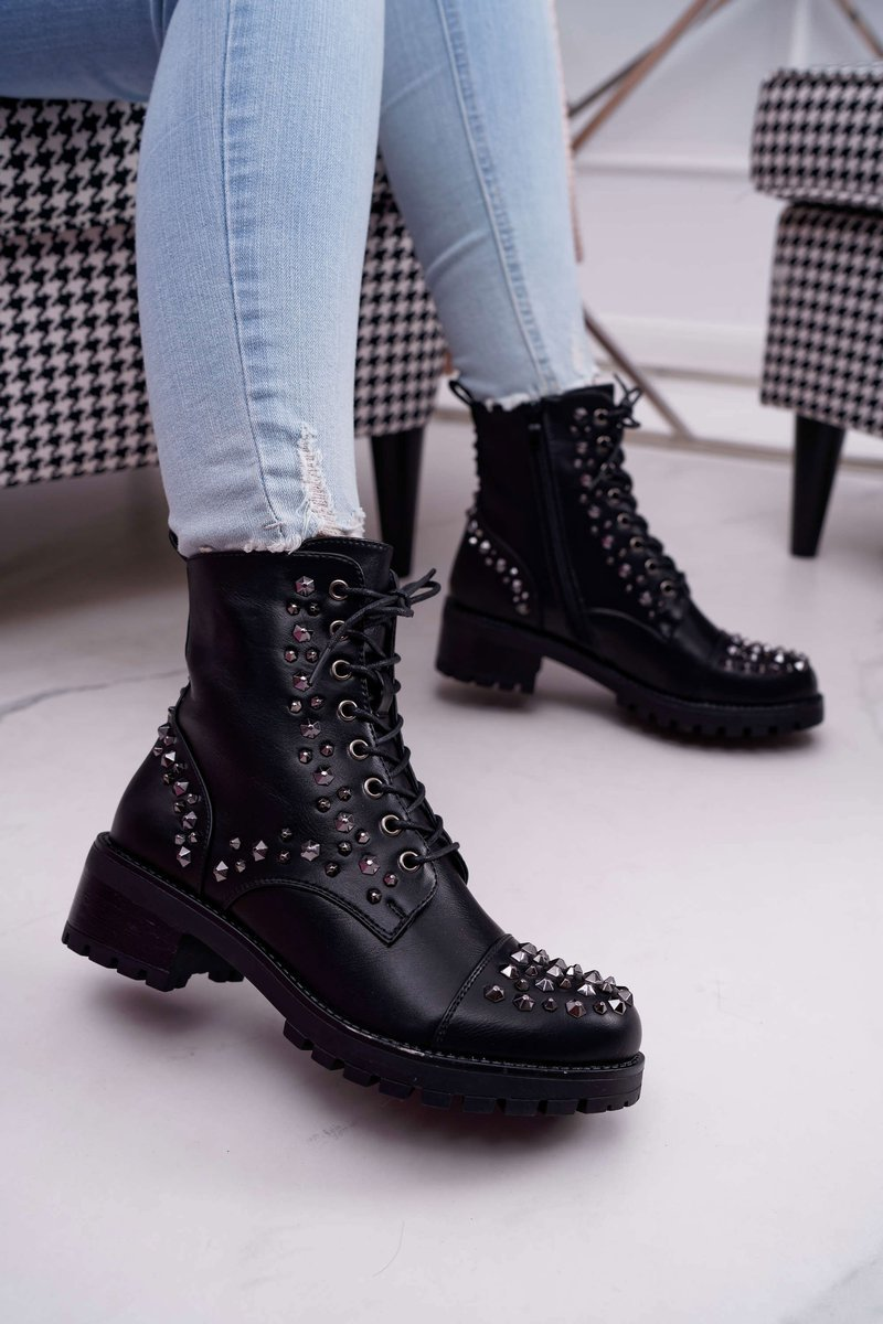 Women's High Boots Rock Style Black Gether