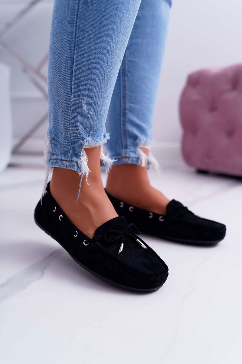 Women's Loafers Comfortable Eco-suede Black Memfi