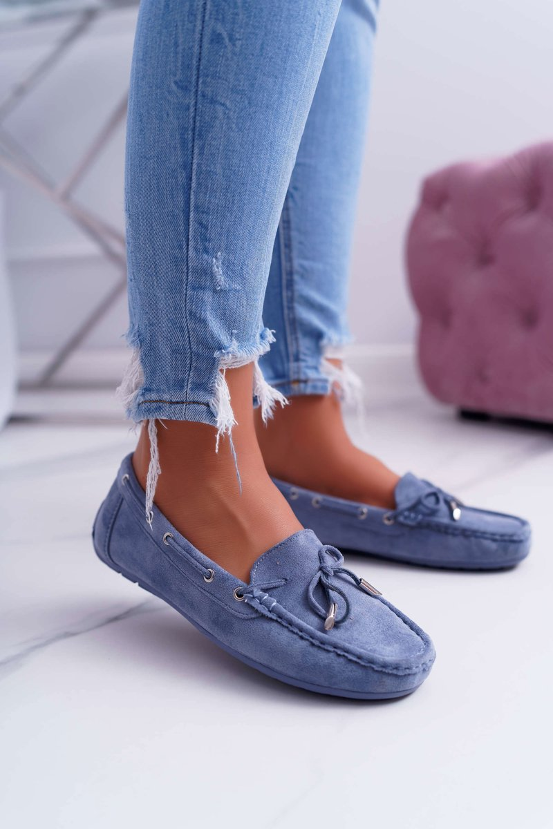 Women's Loafers Comfortable Eco-suede Blue Memfi