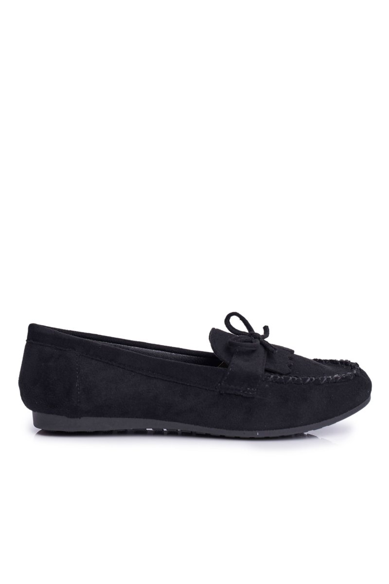 Women's Loafers Suede Black Velucci