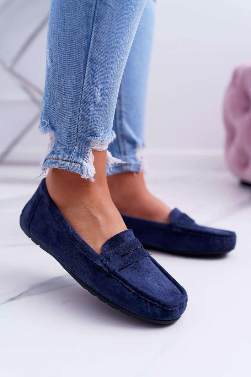 Women s Loafers Suede Navy Blue Merlonte ...