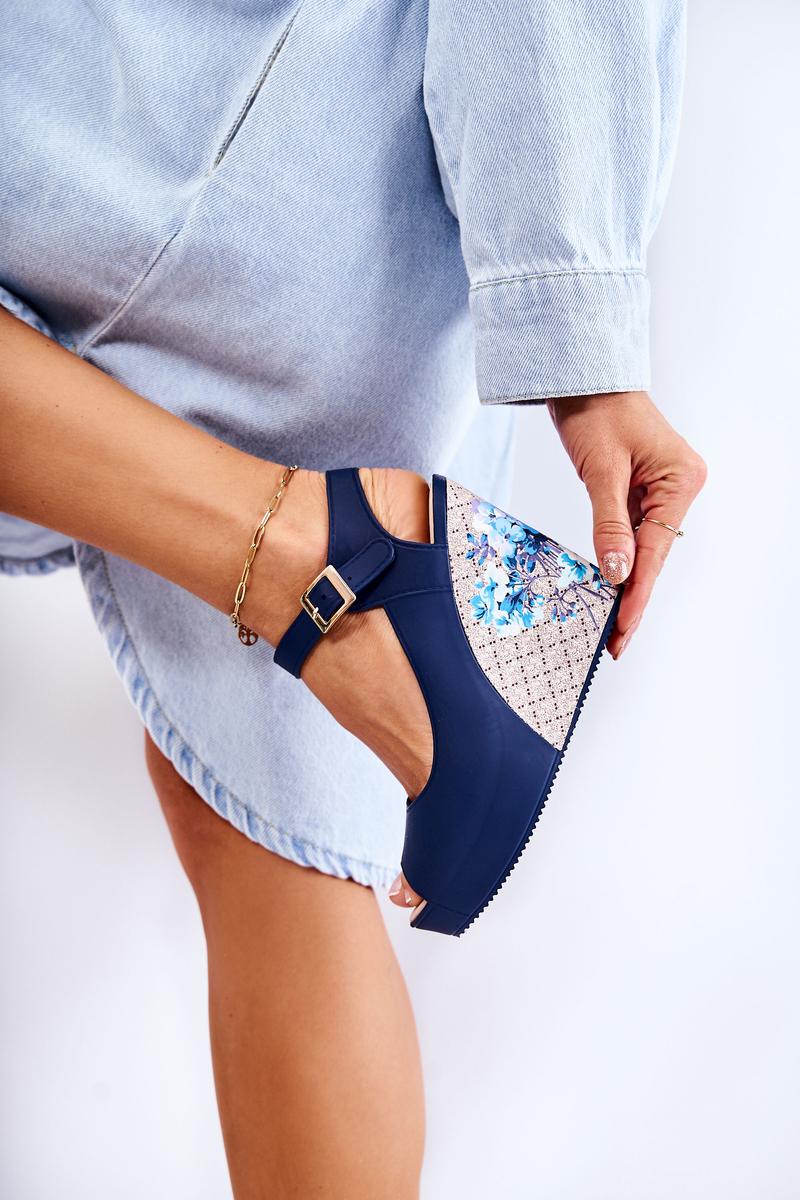 Women's Navy Blue Sandals Nemesis | Cheap and fashionable ...