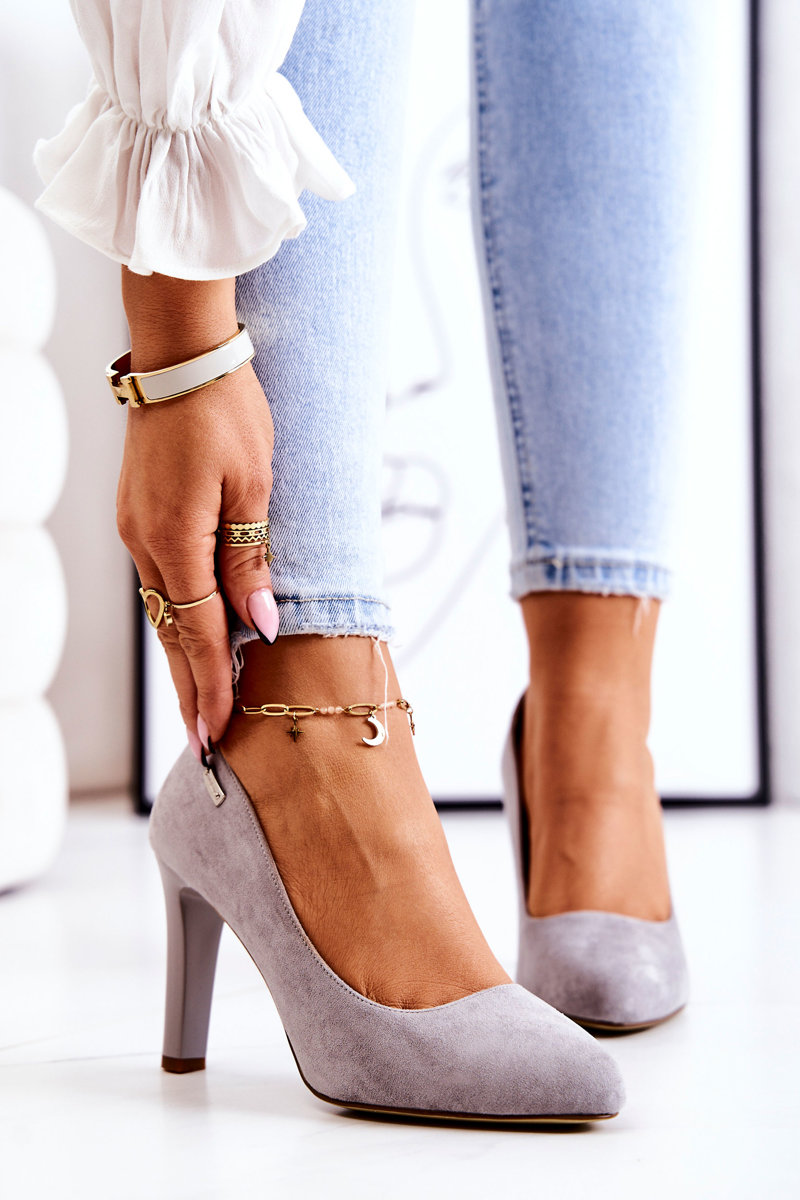 Women's Pumps Grey Suede Campbell