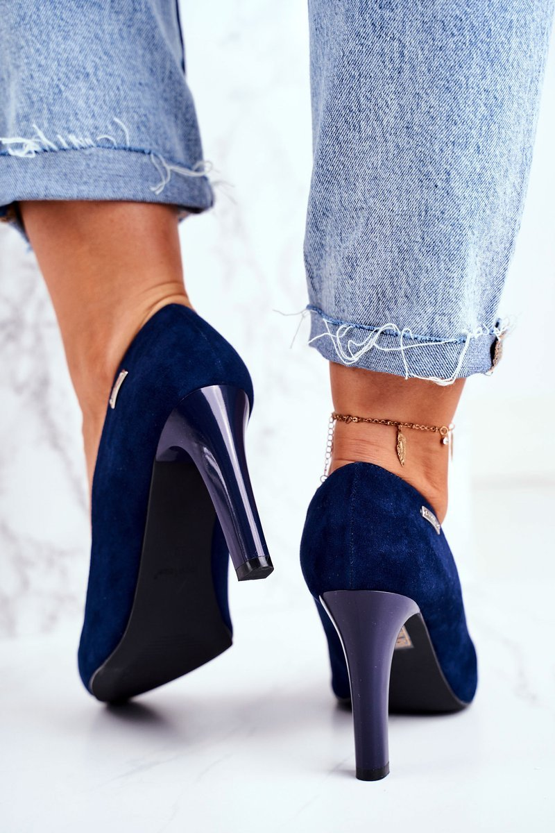 Women's Pumps Navy Blue Suede Campbell
