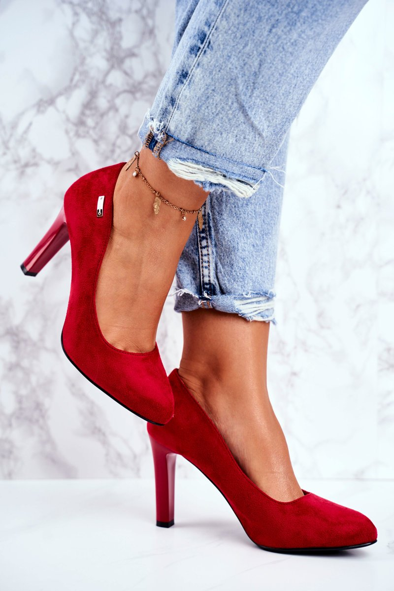 Women's Pumps Red Suede Campbell