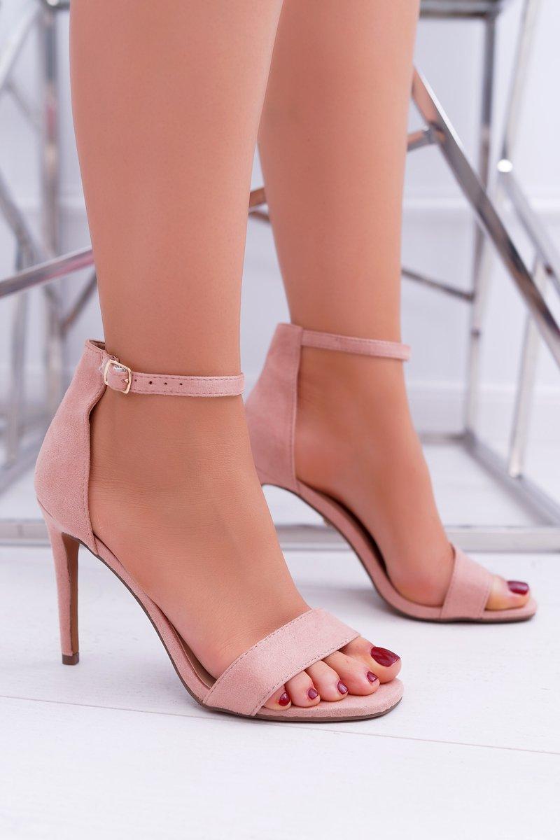 b0e0cd1e956f Women s Sandals On High Heel Pink Simple ...