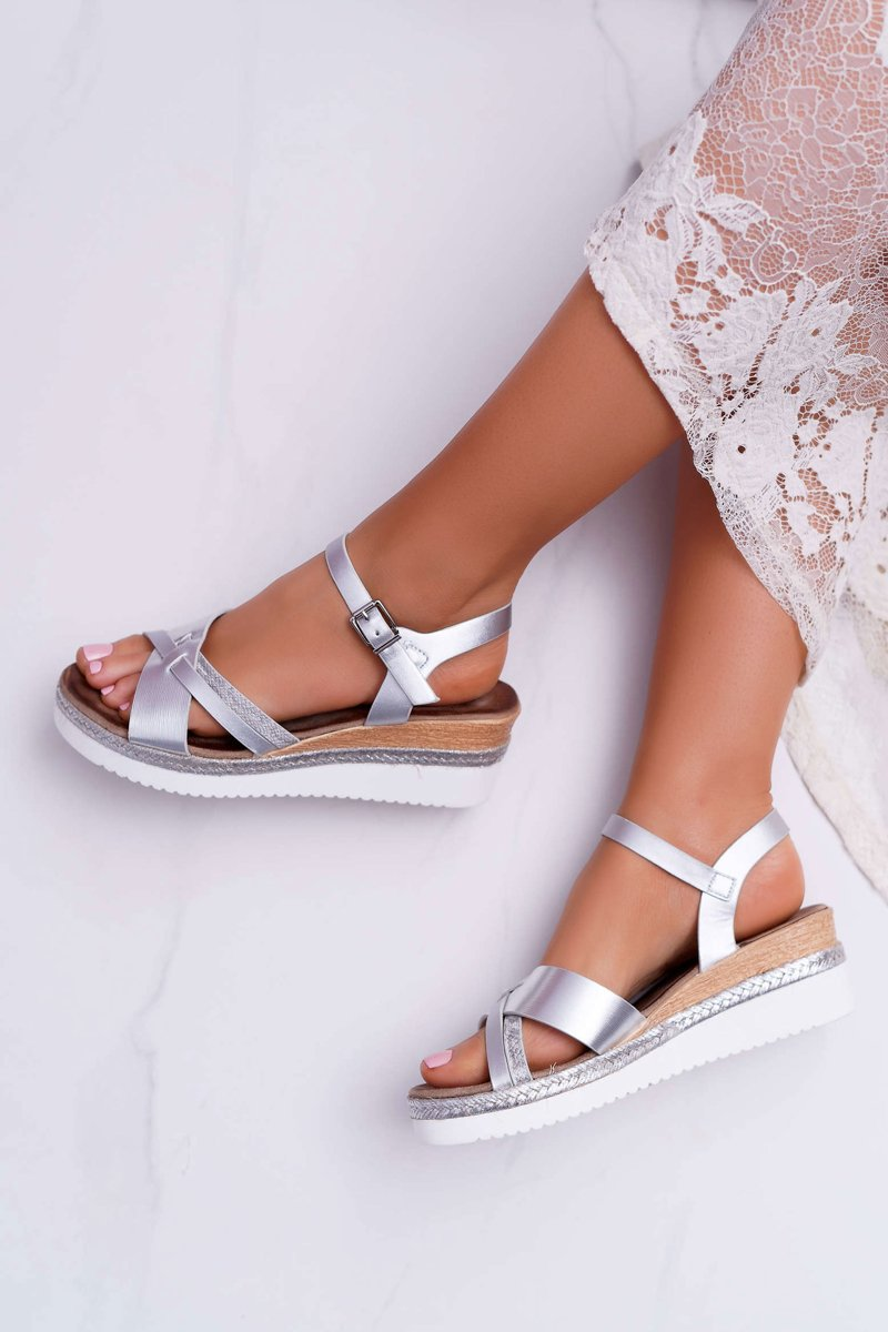 Women's Sandals On Wedge Silver Meryl