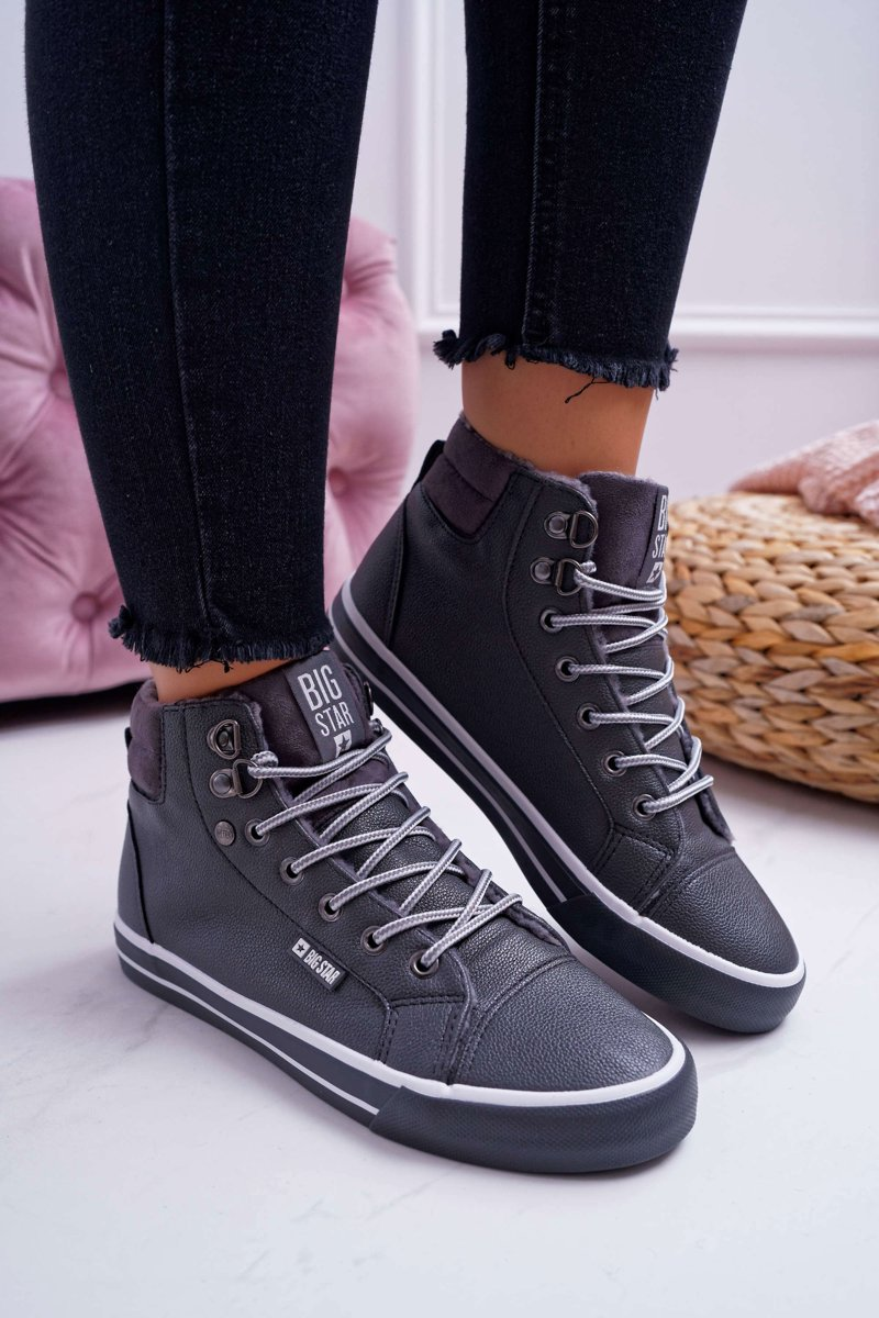 Women's Sneakers Big Star High Grey Warm EE274413