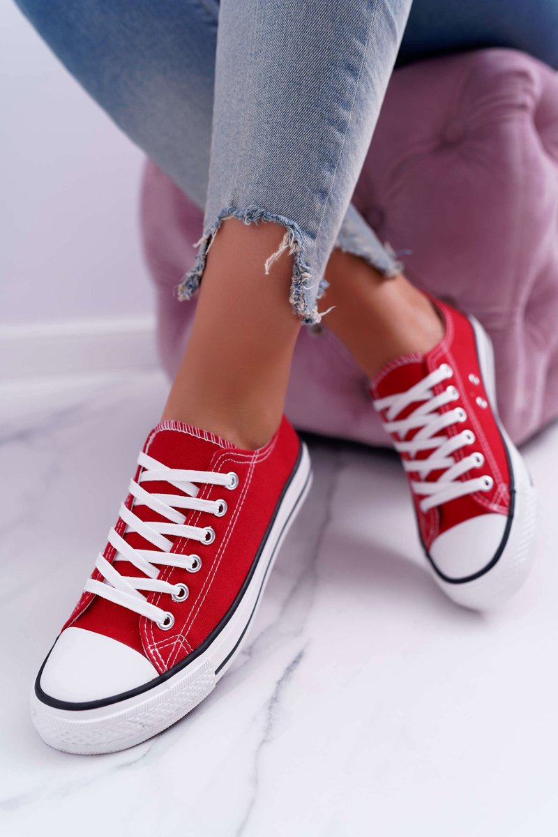 Women's Sneakers Low Material Red FreeTime