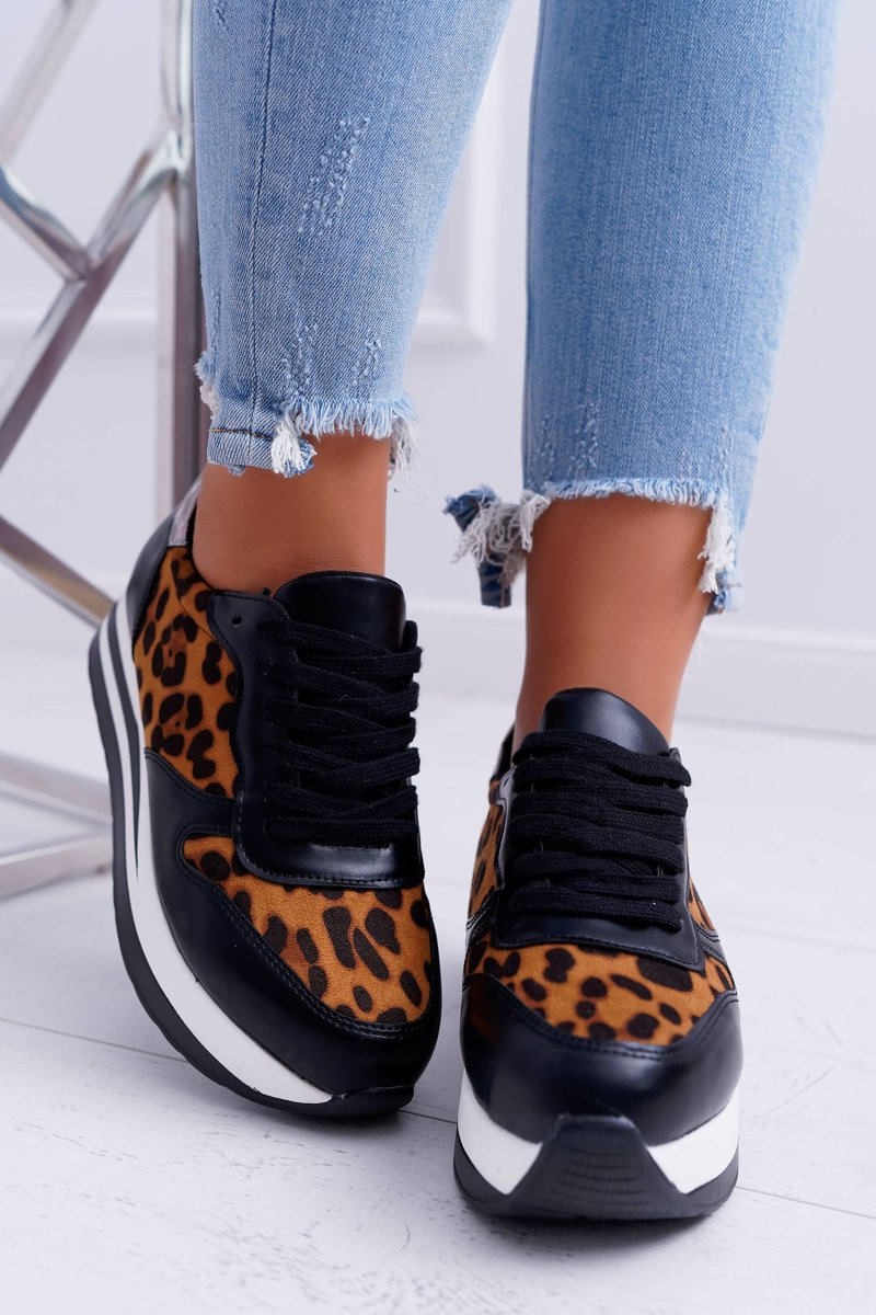 Women's Sport Shoes Leopard On Thick Sole OHH!