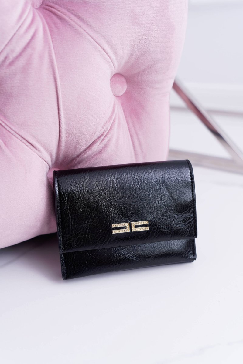 Women's Wallet Classic Small Black On Magnet