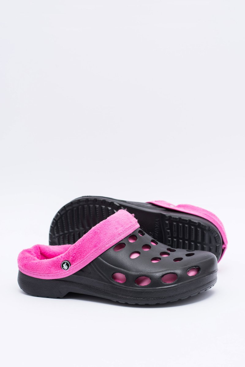 f505df80b Women s Slides Warm Black Pink Crocs Eva ...