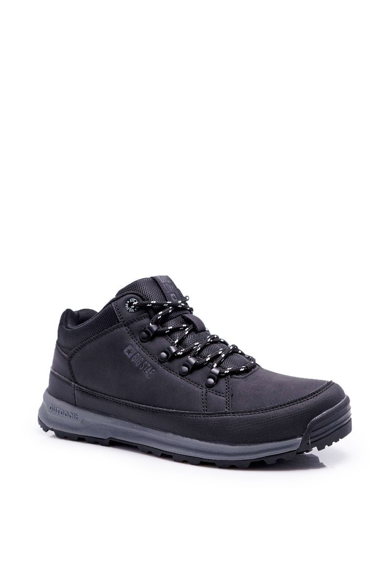 Youth Trekker Shoes Big Star High Outdoor Black EE274816