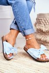Women's Blue Flip-flops Bows Wendy