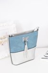 Women's Messenger Silver Bag Purse with Fringe