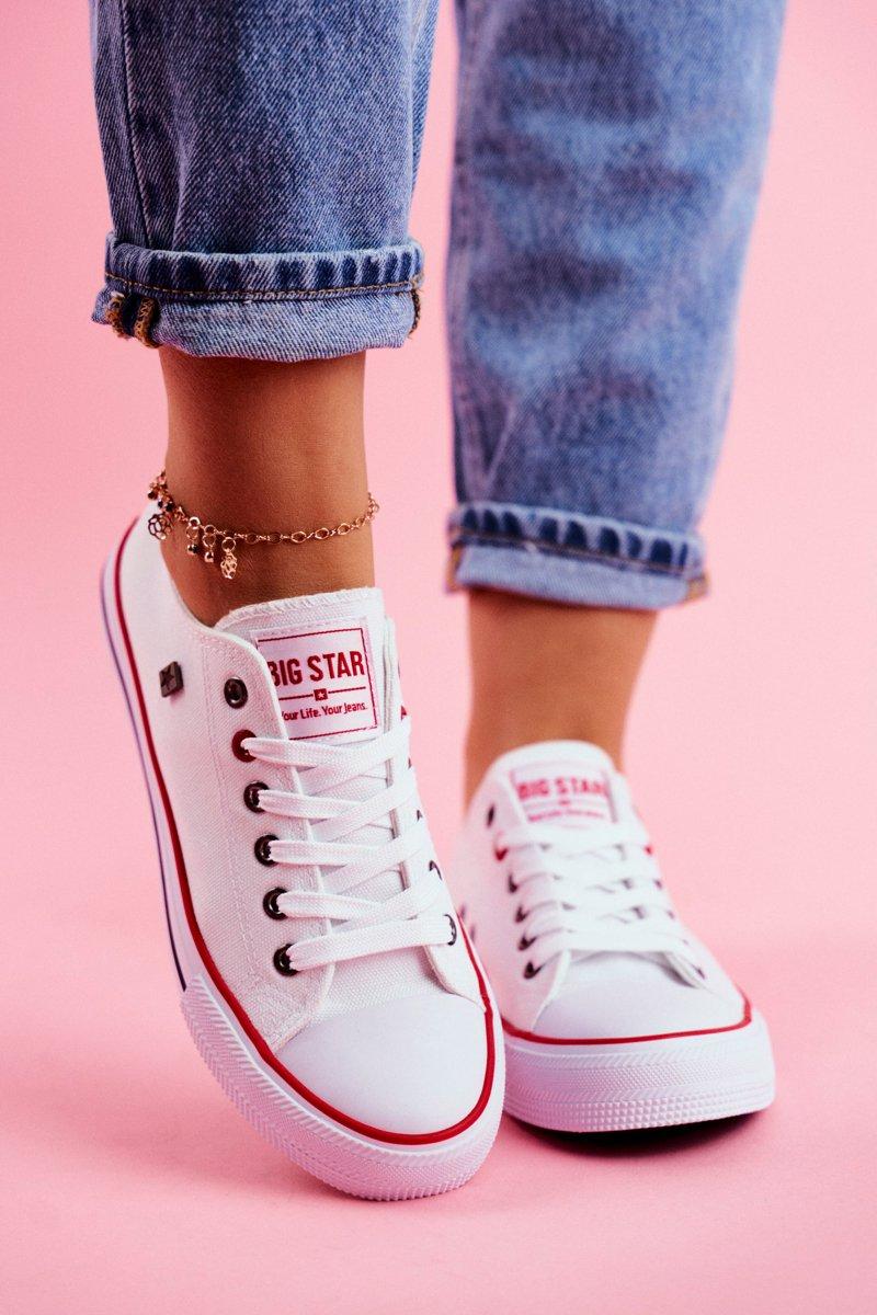 57a2ac004d614 Big Star Damskie Białe Trampki T274022 | Tanie i modne buty online w ...