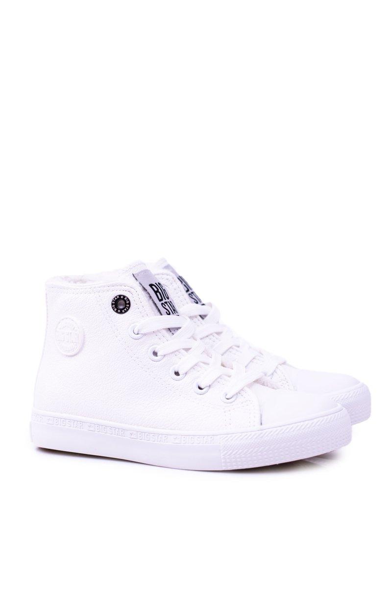 7cea9d760d Big Star Dziecięce Wysokie Białe Trampki Sneakersy BB374141 ...