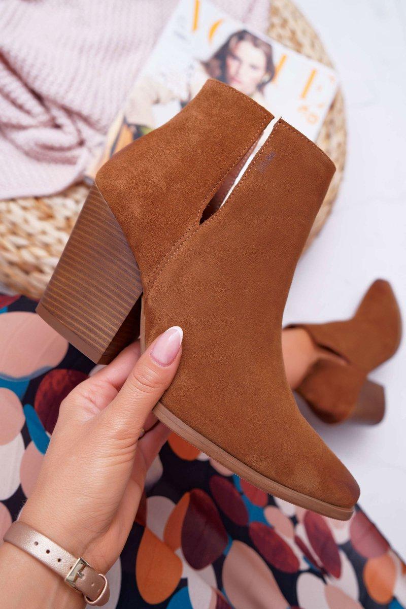 buty brązowe damskie botki
