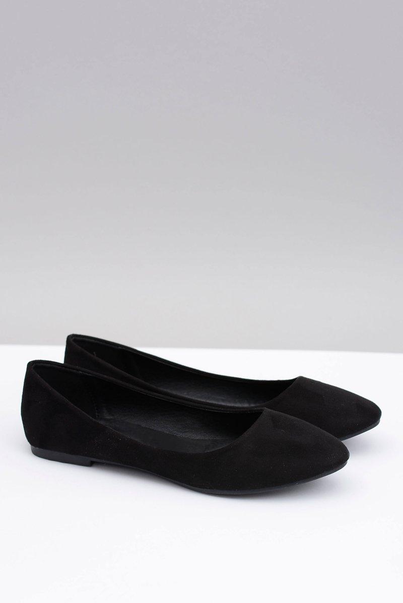 eb5cfb75 Czarne Damskie Balerinki Zamsz Buenos | Tanie i modne buty online w ...