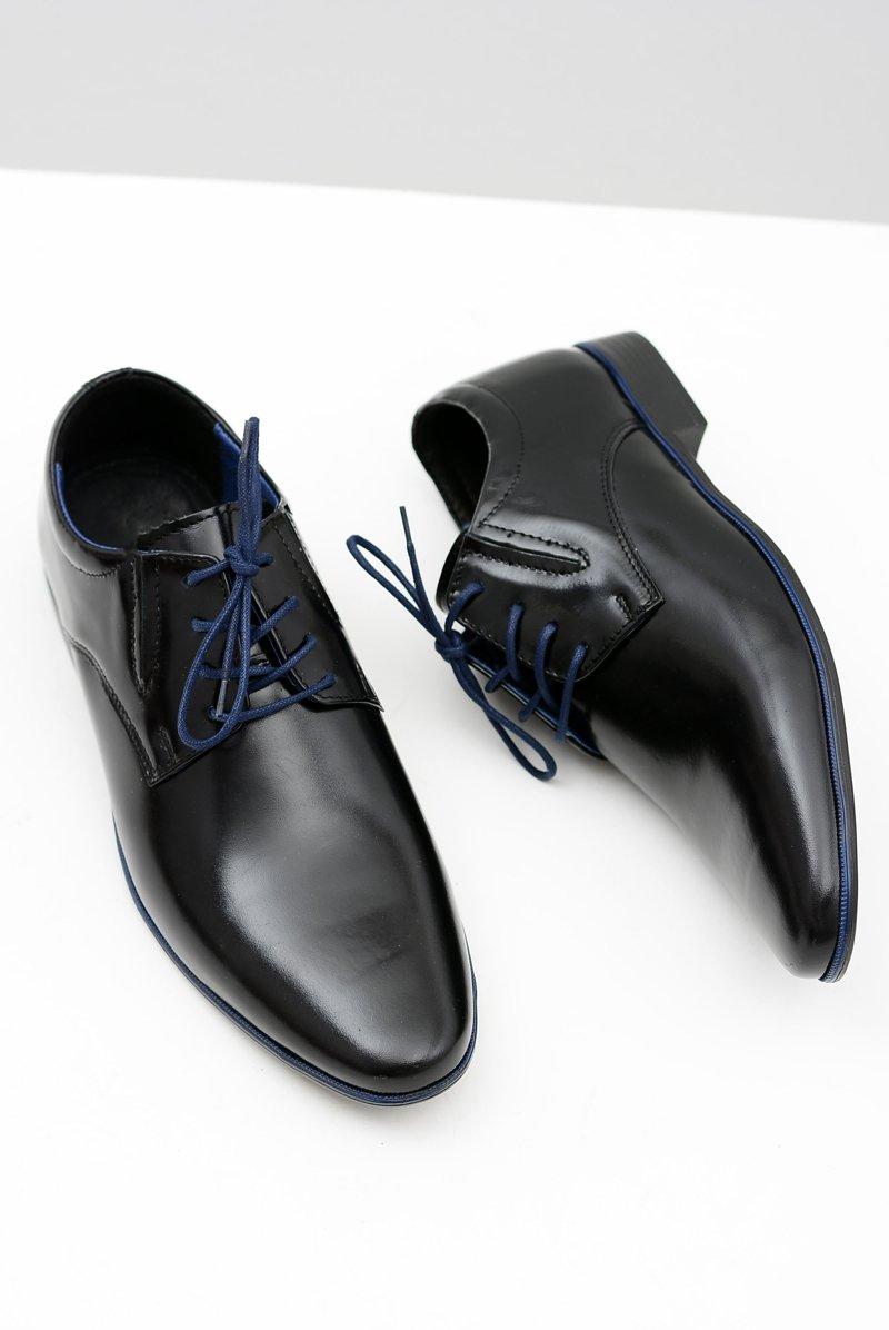 c66e752f Czarne Męskie Półbuty Wizytowe Marcello | Tanie i modne buty online ...