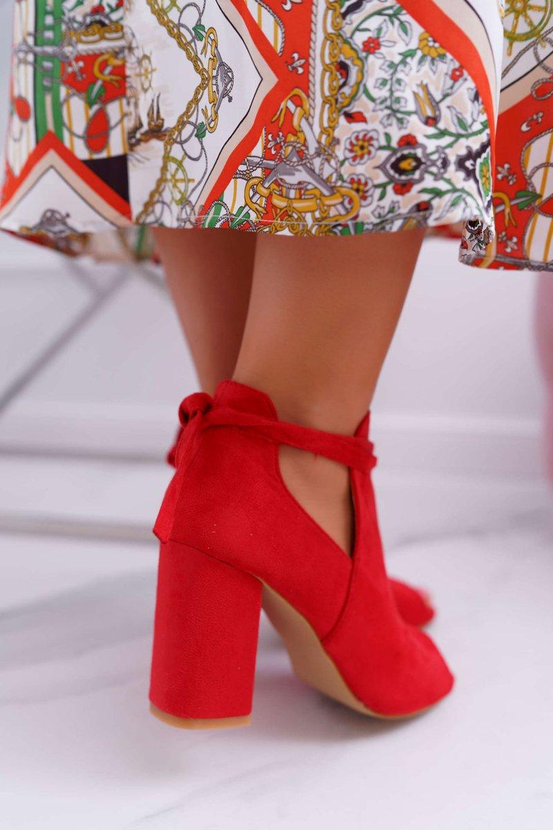 9423f70461b68 Czerwone Botki Sandały Na Słupku Odkryte Palce Grays | Tanie i modne ...