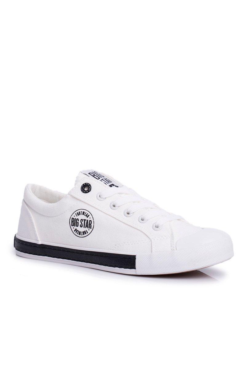Białe trampki damskie Big Star FF274228