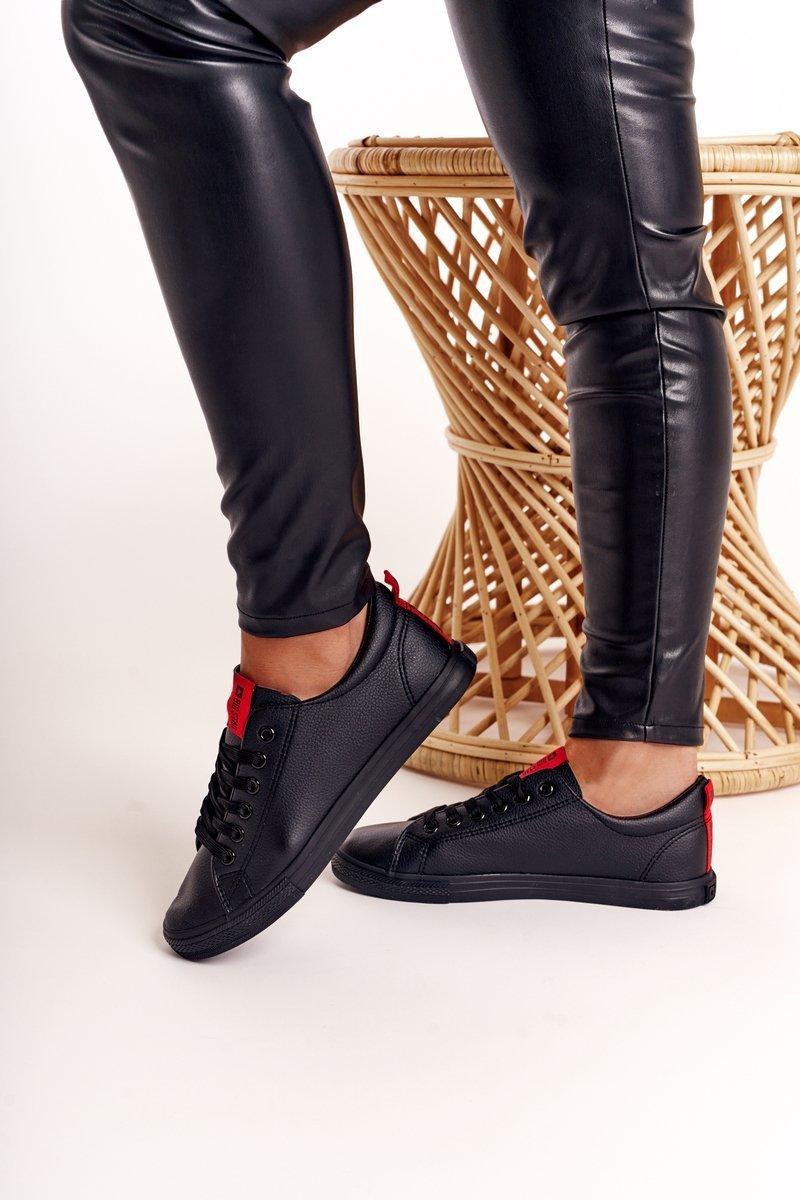 big star buty damskie trampki czarne