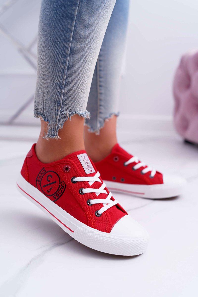 Damskie Trampki Cross Jeans Czerwone DD2R4072