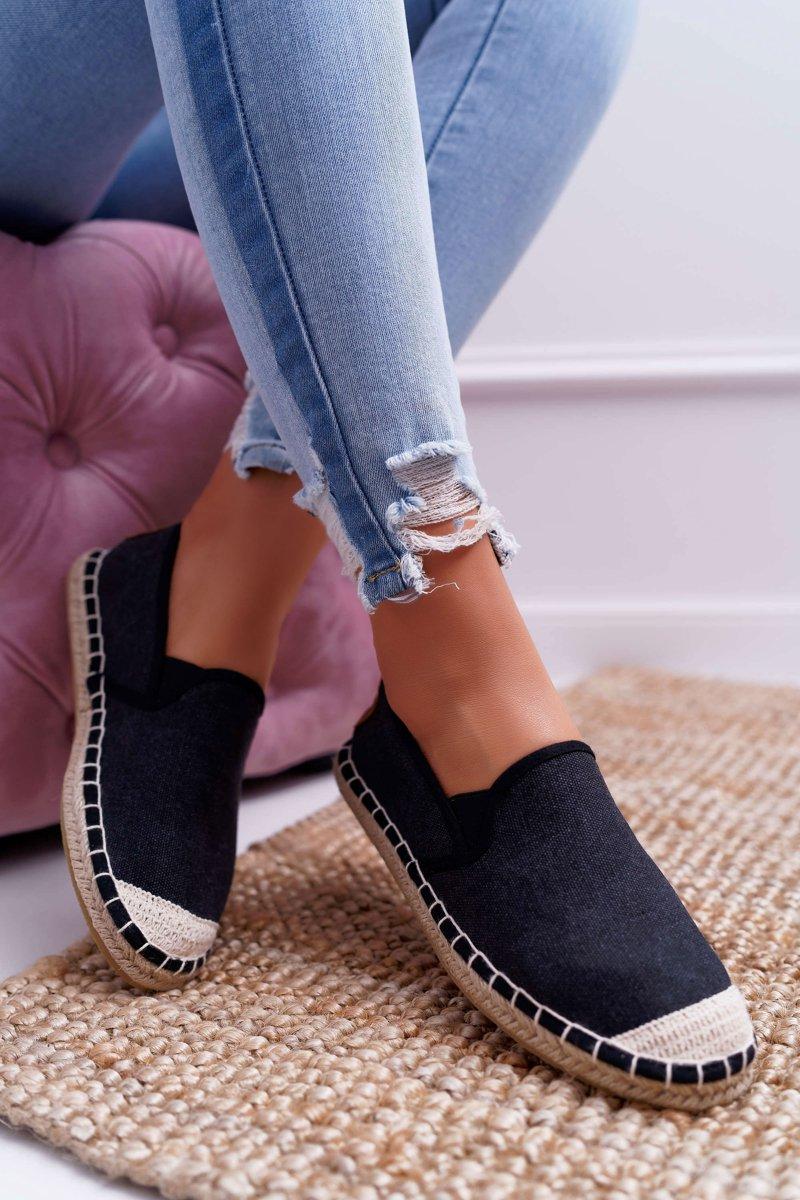 Espadryle Damskie Cross Jeans Czarne Dd2r4106 Tanie I Modne Buty Online W Butosklep Pl